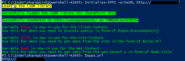 Connect to On Premises SharePoint 2013 site using Powershell